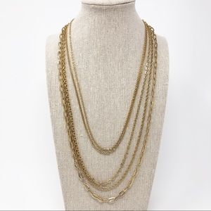 Vintage Layered Gold Chain Necklace by Citation
